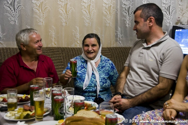 Albanian feast for the mountain spirit