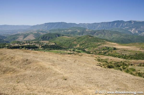Landscape near the Macedonian border