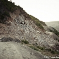 Rockfall on the road