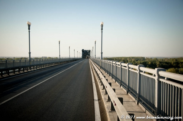 The bridge over the Danube to Romania