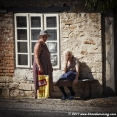 Grandmas in a village