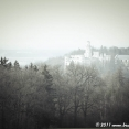 Hluboká Castle in the mist