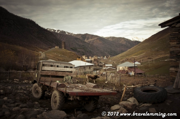 In the streets of Ushguli