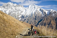 Cycling from Ushguli to Lentekhi