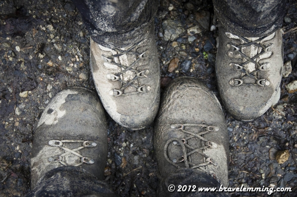 Muddy shoes...