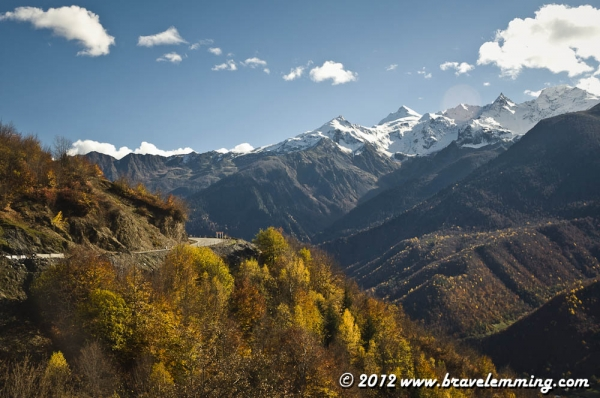 The road to Mestia, Svaneti