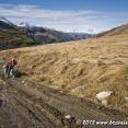 Cycling to Zagari Pass after Ushguli