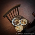 Breakfast on a chair : Potatoes and cheese