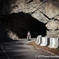 Tina entering a tunnel