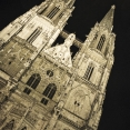 Regensburg cathedral at night