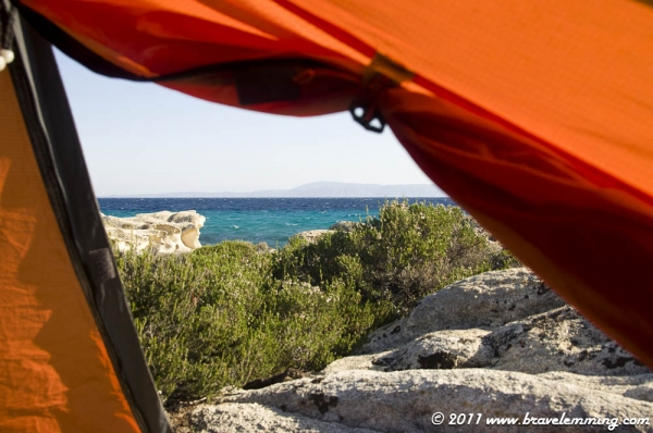 View from our tent in the morning... so much better better than a five star hotel !