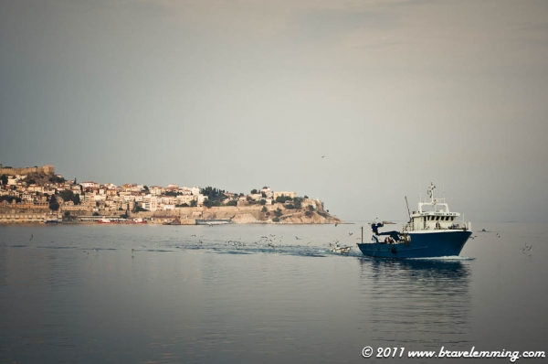 Arriving at Kavala