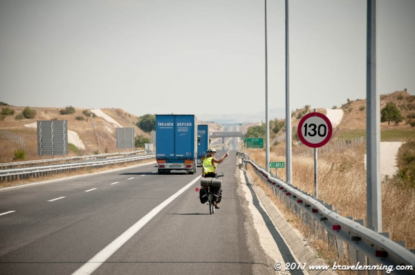 Cycling on the Highway !