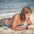 Reading Pierre Rabhi on the beach...