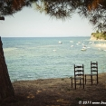 Chairs by the sea
