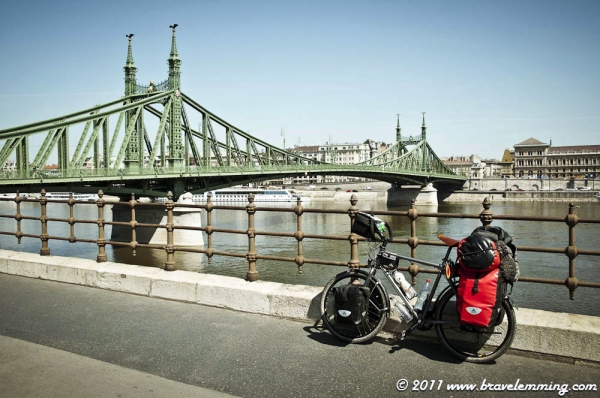 By the Liberty Bridge in Budapest