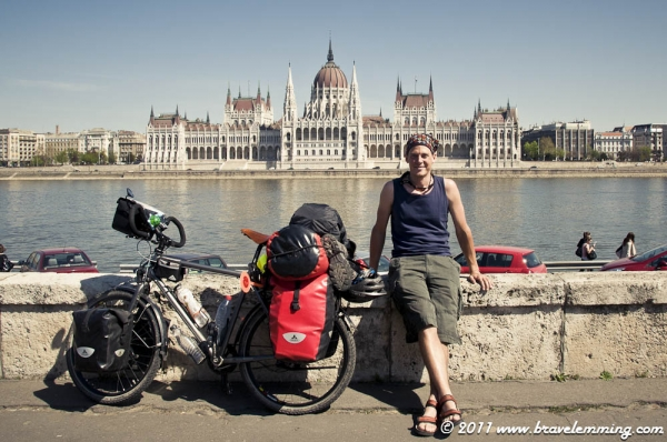 In front of the Hungarian Parliament