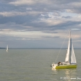 Boats on the Balaton lake