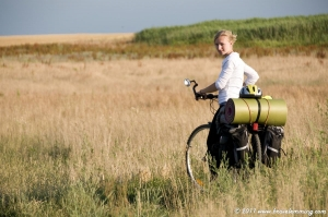 Summer ride in the fields
