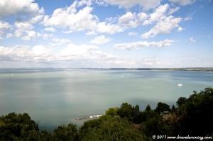 Balaton lake from Tihany