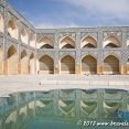 In the courtyard of Jameh Mosque of Esfahan