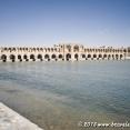 Khaju Bridge in Esfahan is both a bridge and a dam