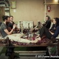 Smoking Iranian waterpipe with friends