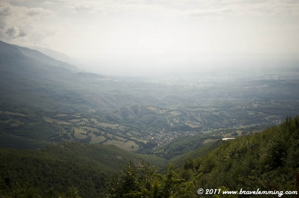 Panorama of Kosovo from the mountain