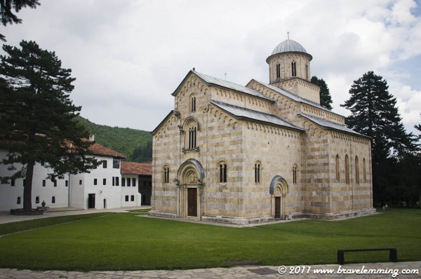 The Serbian monastery of Visoki Dečani