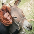 Justine and her dear donkey