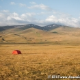 Camping at Song Kul Lake in Kyrgyzstan