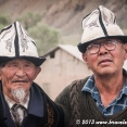 Faces in a Kyrgyz village