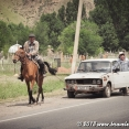 Dradding a Lada with a horse !