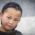Portrait of a Kyrgyz boy