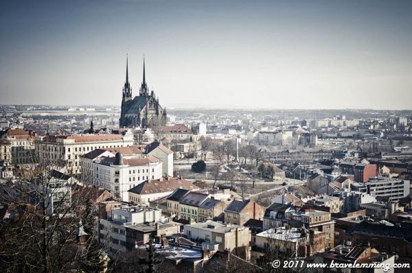 Petrov Cathedral dominating Brno