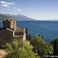 Chruch and lake in Ohrid