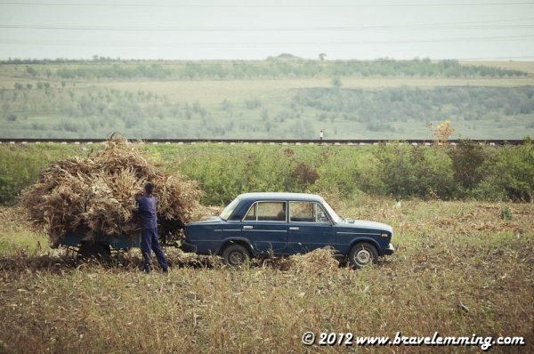 Lada in a field