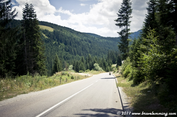 On the road in Montenegro
