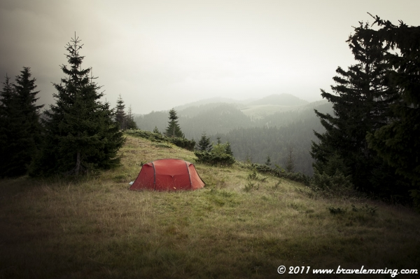 Camping in no man's land between Montenegro and Kosovo