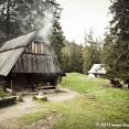 Huts where is smoked oscypek