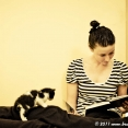 Justyna and a kitten