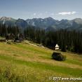 Landscape when cycling near the Polish Tatras
