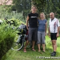 With a very friendly Polish biker who invited for coffee