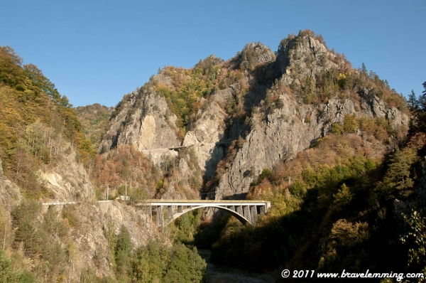 Transfagarasan, a road across the Carpathians