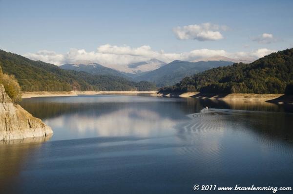 Wonderful lake in the Carpathians