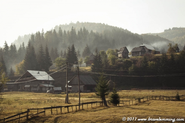 A morning in Transylvania