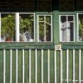 Facade of a wooden house