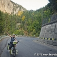 Cycling in Bicaz Gorges