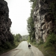 Cycling under the rain near Mokra Gora