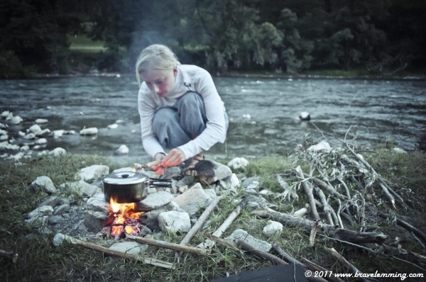 Camping by River Lim